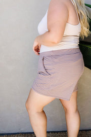 Give Me A Mocha Striped Shorts - Simply Sass Boutique