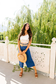 Go Get 'Em Gaucho Pants In Navy - Women's Clothing AfterPay Sezzle KanCan Judy Blue Simply Sass Boutique