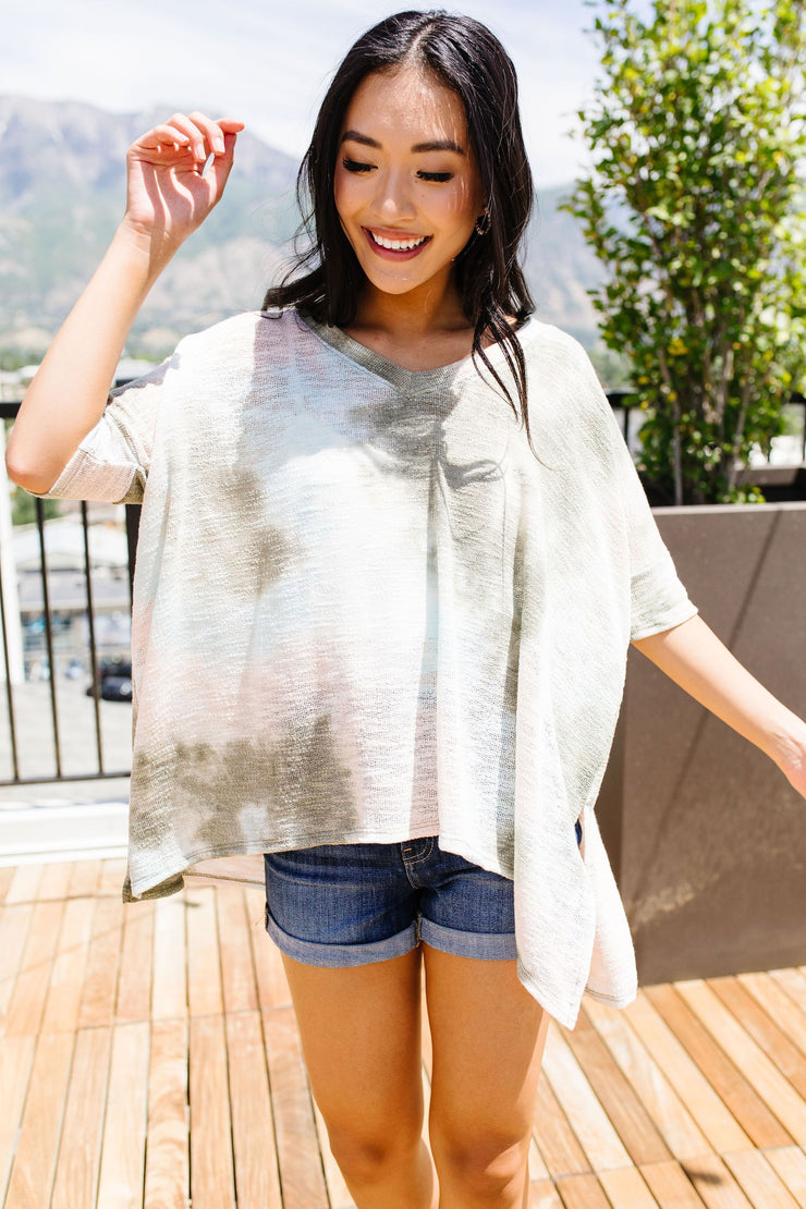 Going Green Tie Dye Top - Simply Sass Boutique