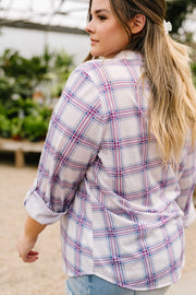 Happy Plaid Button-Down - Women's Clothing AfterPay Sezzle KanCan Judy Blue Simply Sass Boutique