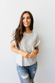 Heathered Stripes Top - Simply Sass Boutique