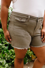 Home Front Patch Pocket Judy Blue Shorts - Simply Sass Boutique