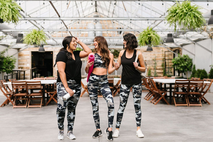 Jungle Camo Athletic Leggings - Women's Clothing AfterPay Sezzle KanCan Judy Blue Simply Sass Boutique