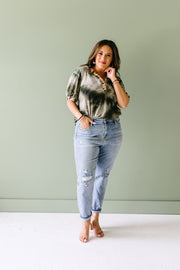 Jungle Expedition Top In Olive - Women's Clothing AfterPay Sezzle KanCan Judy Blue Simply Sass Boutique