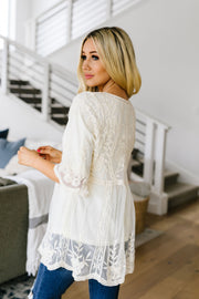 Lace Eternal Blouse - Women's Clothing AfterPay Sezzle KanCan Judy Blue Simply Sass Boutique