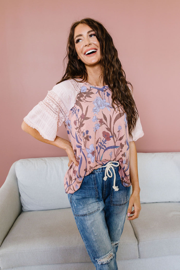 League Of Your Own Floral Top - Simply Sass Boutique