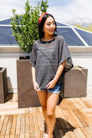 Light Up The Night Charcoal Sweater - Women's Clothing AfterPay Sezzle KanCan Judy Blue Simply Sass Boutique