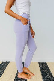 Lounging In Color Joggers In Lavender - Simply Sass Boutique