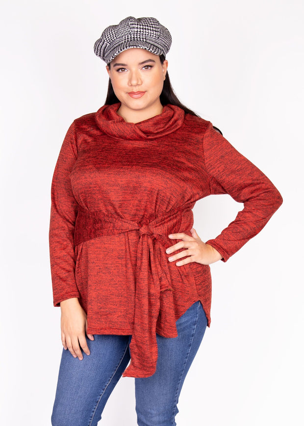 Bellum Sweater - Rust - Women's Clothing AfterPay Sezzle KanCan Judy Blue Simply Sass Boutique