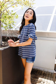 Make It A Double Striped Top - Women's Clothing AfterPay Sezzle KanCan Judy Blue Simply Sass Boutique