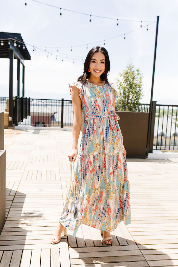 Meandering Patterns Maxi Dress - Simply Sass Boutique