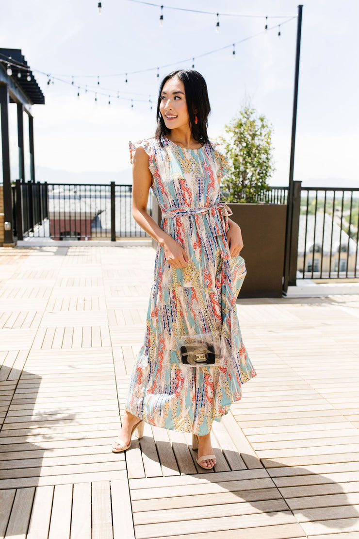 Meandering Patterns Maxi Dress - Women's Clothing AfterPay Sezzle KanCan Judy Blue Simply Sass Boutique