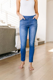 Medium Wash Jessie Just Right Jeggings - Women's Clothing AfterPay Sezzle KanCan Judy Blue Simply Sass Boutique