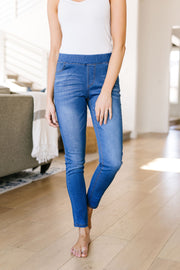 Medium Wash Jessie Just Right Jeggings - In House - Simply Sass Boutique