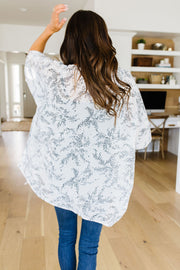 Mini Mosaic Kimono In White - Women's Clothing AfterPay Sezzle KanCan Judy Blue Simply Sass Boutique