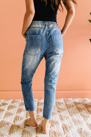No Slouch Boyfriend Jean Joggers - Women's Clothing AfterPay Sezzle KanCan Judy Blue Simply Sass Boutique