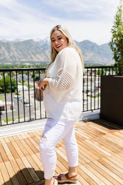 No Sweat Sweater In Off-White - Women's Clothing AfterPay Sezzle KanCan Judy Blue Simply Sass Boutique