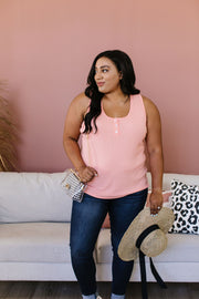 Nobody Puts Baby In The Corner Tank In Blush Peach - Women's Clothing AfterPay Sezzle KanCan Judy Blue Simply Sass Boutique