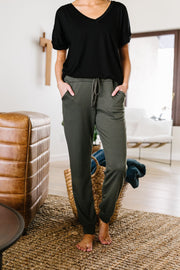Olive You More Joggers - Women's Clothing AfterPay Sezzle KanCan Judy Blue Simply Sass Boutique