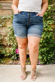 On The Fly Medium Wash Shorts - In House - Simply Sass Boutique