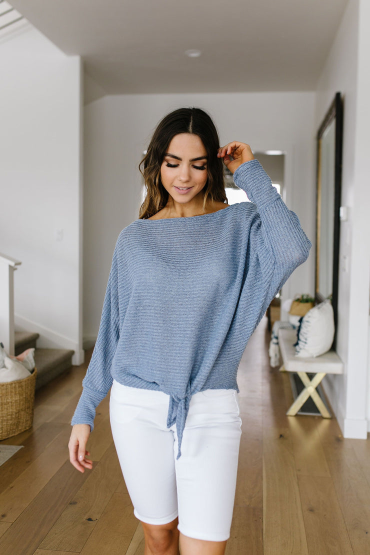Out Of The Blue Tie-Front Top - Women's Clothing AfterPay Sezzle KanCan Judy Blue Simply Sass Boutique