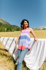 Pastel Gradient Stripes in Pink & Aqua - Simply Sass Boutique