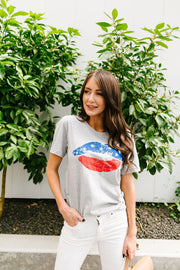 Patriotic Lip Service Graphic Tee 1- 4/30/2020 - Women's Clothing AfterPay Sezzle KanCan Judy Blue Simply Sass Boutique