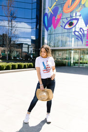Peace In America Graphic Tee - Women's Clothing AfterPay Sezzle KanCan Judy Blue Simply Sass Boutique