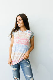Pieced Together Tie Dye Top - Simply Sass Boutique