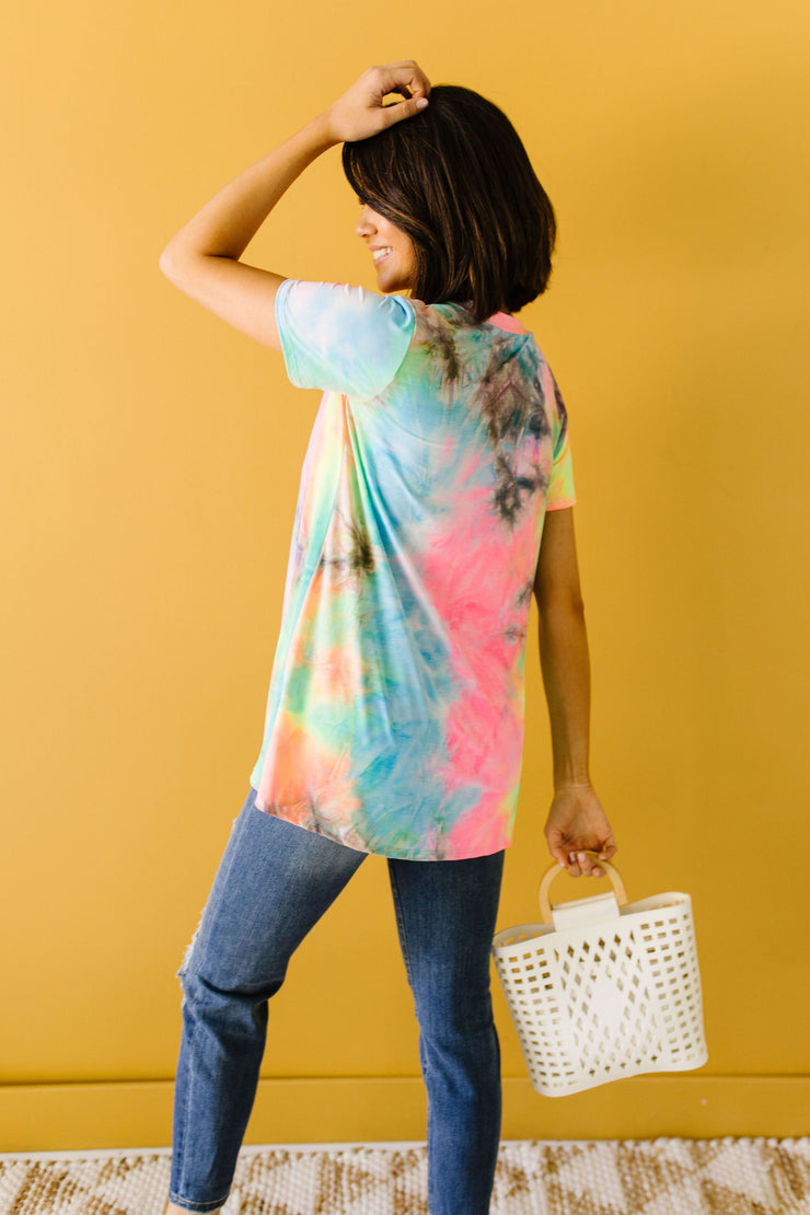Pink Perfection Tie Dye Top - Women's Clothing AfterPay Sezzle KanCan Judy Blue Simply Sass Boutique