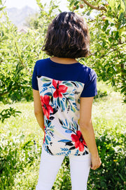 Pocket Full Of Posies V-Neck - Women's Clothing AfterPay Sezzle KanCan Judy Blue Simply Sass Boutique