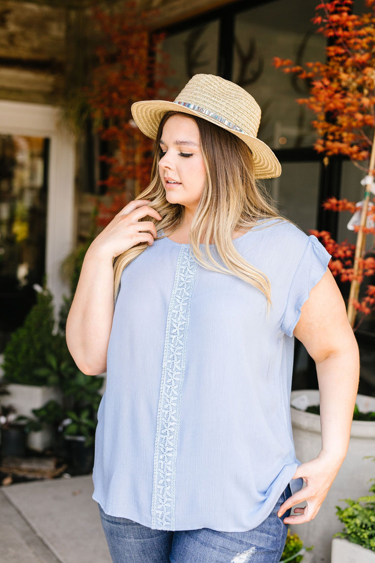 Pretty Cornflower Blouse - Women's Clothing AfterPay Sezzle KanCan Judy Blue Simply Sass Boutique