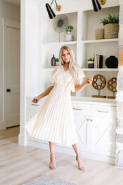 Pretty Pleats With A Cherry On Top Dress - Women's Clothing AfterPay Sezzle KanCan Judy Blue Simply Sass Boutique