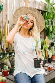 Prickly Business Top In Ivory - Women's Clothing AfterPay Sezzle KanCan Judy Blue Simply Sass Boutique