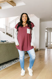 Pure & Simple Raglan Tee In Plum - Women's Clothing AfterPay Sezzle KanCan Judy Blue Simply Sass Boutique