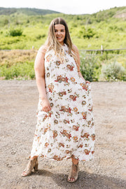 Quaint Floral Maxi Dress - Women's Clothing AfterPay Sezzle KanCan Judy Blue Simply Sass Boutique