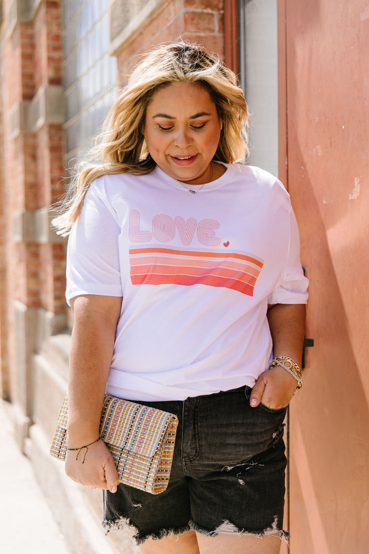 Retro Love Graphic Tee - Women's Clothing AfterPay Sezzle KanCan Judy Blue Simply Sass Boutique