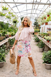 Rhapsody In Bloom Skirt - Women's Clothing AfterPay Sezzle KanCan Judy Blue Simply Sass Boutique