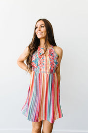 Collision Of Color Dress - Women's Clothing AfterPay Sezzle KanCan Judy Blue Simply Sass Boutique
