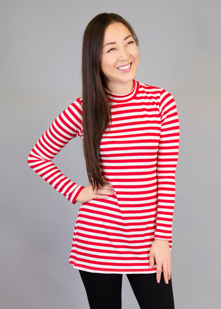 Statice - Red and White Stripe - Simply Sass Boutique