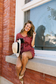 Romp Into Fall Rust Romper - In House - Simply Sass Boutique