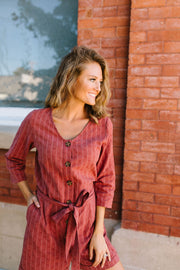 Romp Into Fall Rust Romper - In House - Women's Clothing AfterPay Sezzle KanCan Judy Blue Simply Sass Boutique