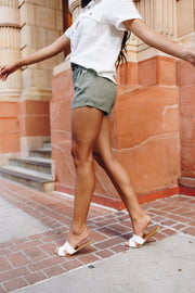 Short But Sweet Olive Shorts - Women's Clothing AfterPay Sezzle KanCan Judy Blue Simply Sass Boutique