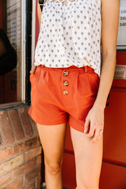 Shorts Sunny Side Up In Rust - Women's Clothing AfterPay Sezzle KanCan Judy Blue Simply Sass Boutique