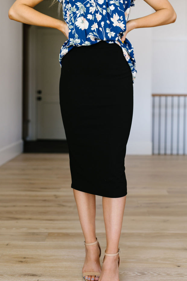 Sleek & Simple Pencil Skirt - Women's Clothing AfterPay Sezzle KanCan Judy Blue Simply Sass Boutique