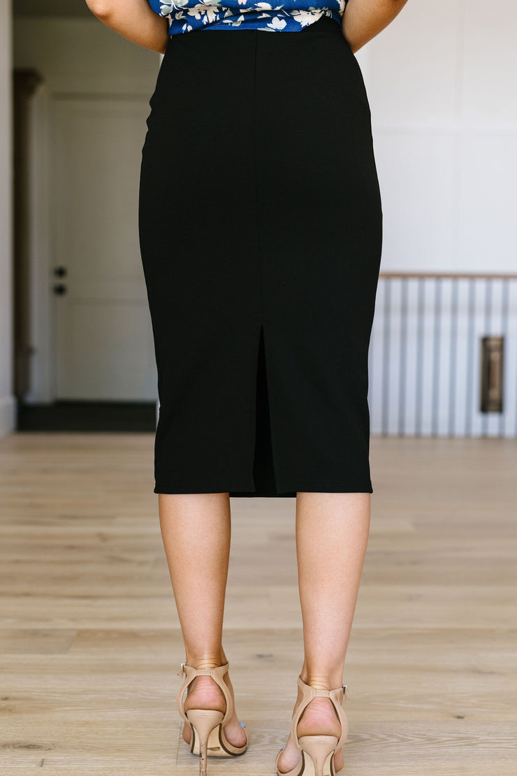 Sleek & Simple Pencil Skirt - Simply Sass Boutique