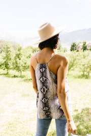 Snake Tank In Gray - Simply Sass Boutique