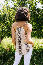 Snake Tank In Natural - Women's Clothing AfterPay Sezzle KanCan Judy Blue Simply Sass Boutique
