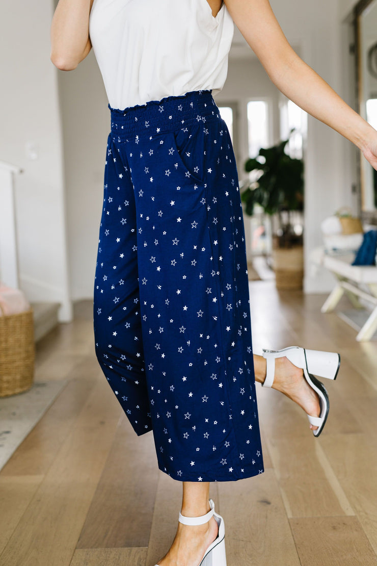 Star Gazer Gaucho Pants - Women's Clothing AfterPay Sezzle KanCan Judy Blue Simply Sass Boutique