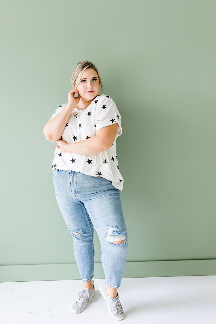 Star Of The Show Top In Ivory - Simply Sass Boutique
